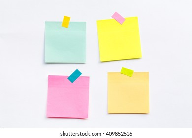 Abstract empty sticky note, isolated on white background