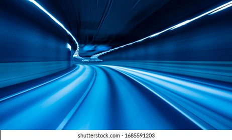 Abstract emty  Motion blurred road