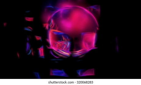 Abstract energy glowing sphere