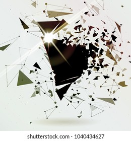 Abstract explosion background. Black friday poster. Card template. Big sale. Raster illustration.