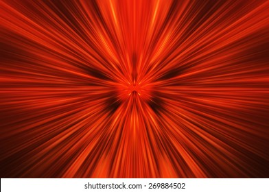 Abstract explosion fire speed zoom effect background