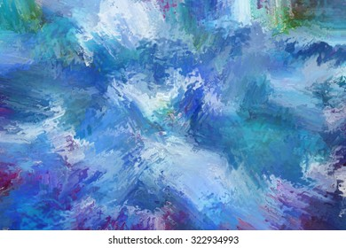 abstract expressionism painting digital abstract painting hard brush stroke texture style