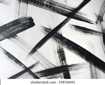 Abstract expressionist painting