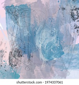 Abstract expressionist style, digital painting background, pleasant colour palette