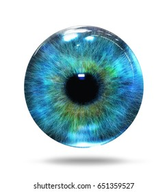 abstract eye isolated on white; 3d illustration