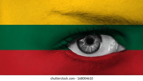 abstract eye with Lithuania flag
