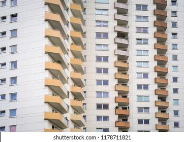 Abstract facade of a modern apartment building