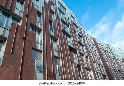 Abstract facade of modern appartement buildings