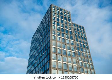 Abstract facade of a modern office building