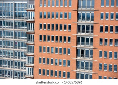 Abstract facade of modern office buildings