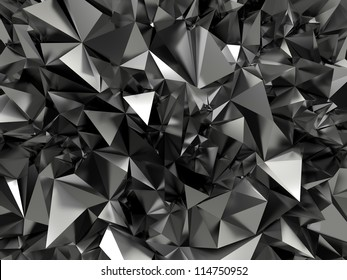 abstract faceted crystallized background