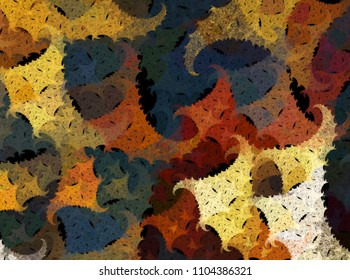 Abstract fall autumn fractal shapes pattern background