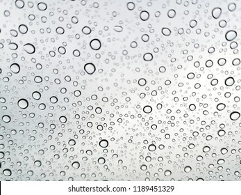 Abstract Falling Rain is drop rain on the glass to sky is a background