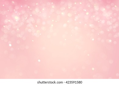 Abstract falling snow background in pink tone