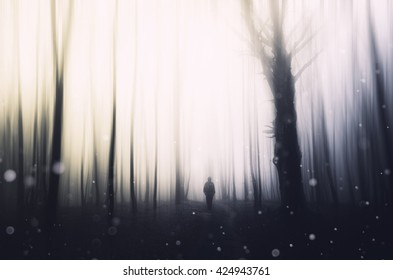 abstract fantasy forest background