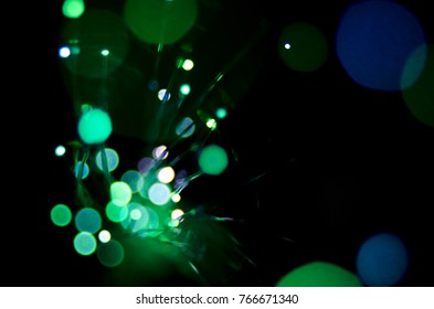 Abstract fibre optic multi color lighs