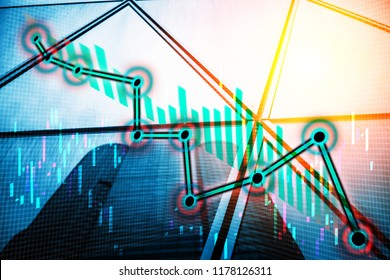 Abstract financial background - Down Market Trend/Bear Market Trend