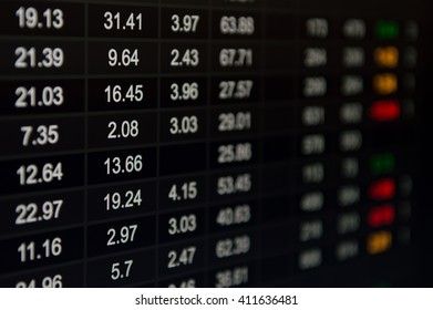Abstract financial figures background