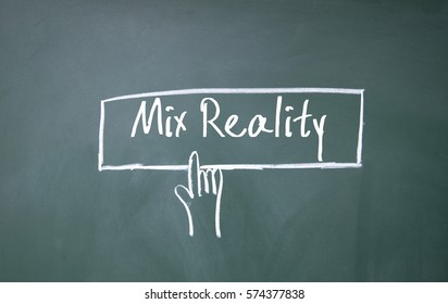 abstract finger click mix reality symbol