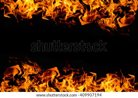 abstract fire frame on dark for background use