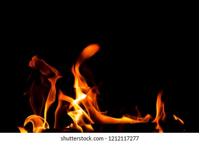 Abstract fire on black background.