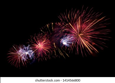 abstract fireworks on black background