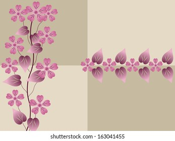 abstract floral illustration background, raster copy