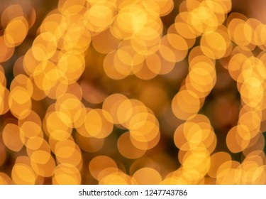 abstract floral orange bokeh background
