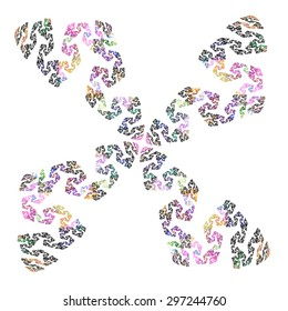 abstract floral pattern isolated on white background