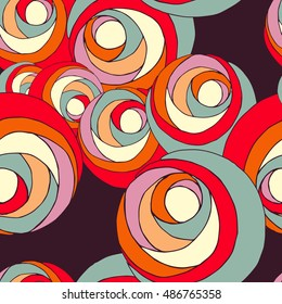 Abstract floral seamless pattern background with colorful hand drawn flowers illustration.