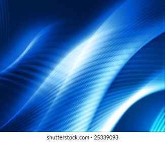 abstract flow design on blue background