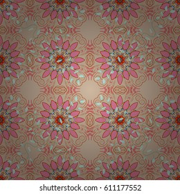Abstract flower background. Pretty floral print with colorful small flowers. Motley seamless pattern.