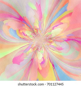 Abstract Flower Burst Painting