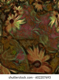 Abstract Flowers   3D Render