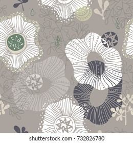 Abstract flowers background. Seamless pattern can be used for wallpapers, pattern fills, web page backgrounds, surface textures.