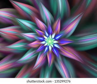 Abstract flowers fractal