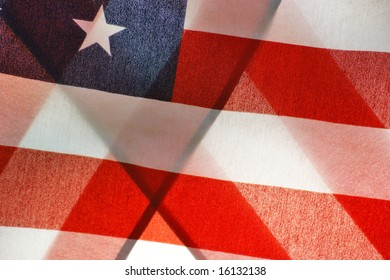 Abstract Folded American Flag