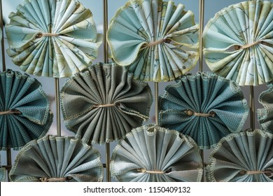 abstract folded fabric pattern decoration background texture
