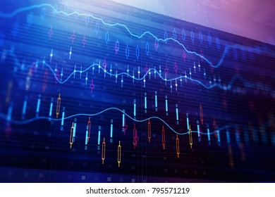 Abstract forex background. Trade and investment concept. 3D Rendering
