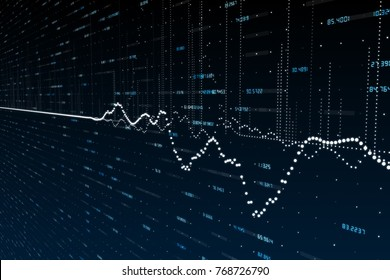 Abstract forex chart backdrop. Finance and economy concept. 3D Rendering