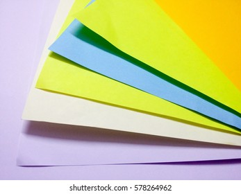 Abstract formation of colorful papers