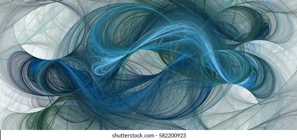 Abstract fractal art background in illustration space geometry. Background consists of fractal multicolor texture and is suitable for use in projects on imagination, creativity and design.