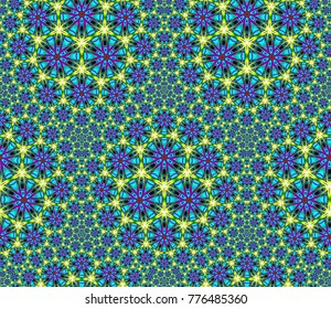 Abstract fractal background Afro-ethnic ornament of computer image. Beautiful abstract background for wallpaper, album, poster, booklet. Fractal digital graphics for creative graphic design.
