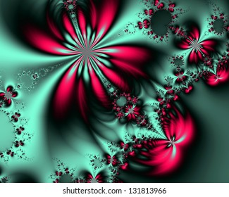abstract fractal background for art projects, pamphlets, brochures or cards