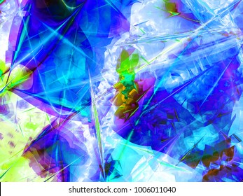 Abstract fractal background Chaos computer-generated image. Beautiful abstract background for wallpaper. Fractal digital artwork for creative graphic design.