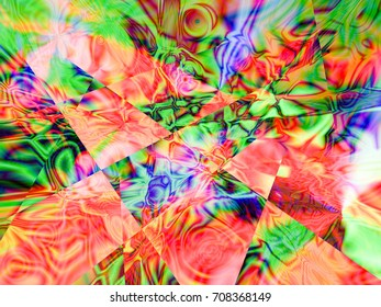 Abstract fractal background, colorful illustration