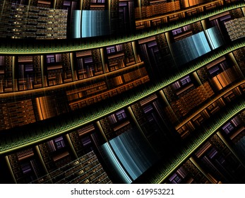 Abstract fractal background computer-generated image