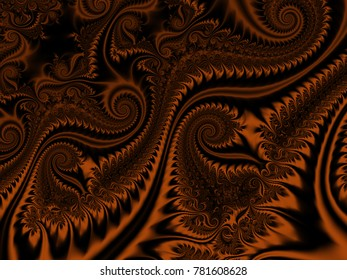 Abstract fractal background Infinite Spirals computer-generated image. Beautiful winter abstract background for wallpaper. Fractal digital artwork for creative graphic design.