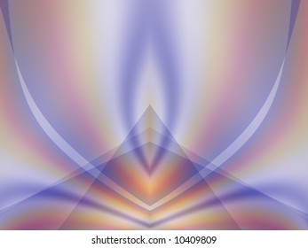 An abstract fractal background in lovely hues of pale blue, purple, orange, pink and white.