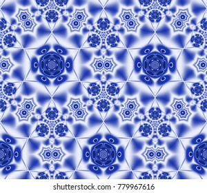 Abstract fractal background Seamless texture of computer generated image. Beautiful abstract background for wallpaper, album, poster, booklet. Fractal digital graphics for creative graphic design.